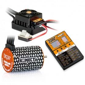 COMBO BRUSHLESS 1/10 50Amp WP + Moteur 4P 3652SL 3500Kv 10,5T KN-COMBO-B1 Konect