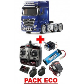 Actros 3363 6x4 Mercedes  Pearl Blue edition 56354 Tamiya PACK ECO