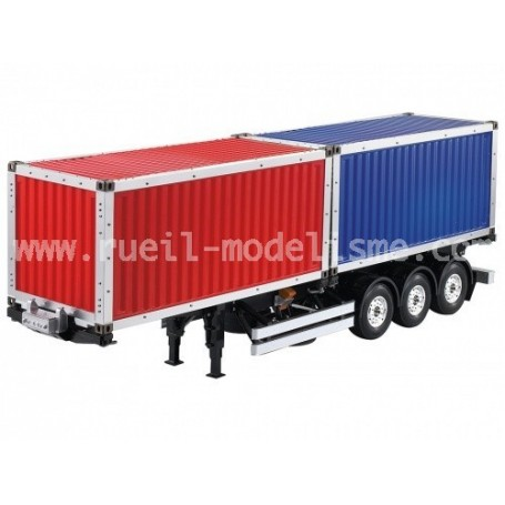 Double container 20 pieds + remorque 3 essieux 140409  H. Hobby