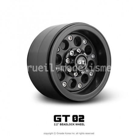 Jantes beadlock 2.2 GT02 noir GM70234 GMade