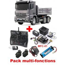 Mercedes Benz Arocs 6x4 Tipper Truck 56357 Tamiya PACK MULTI