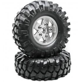 Jantes lourdes beadlock 1.9 + pneus D90 80213S Topcad