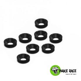 Rondelles cuvette 3mm noir 10071 Snake Race