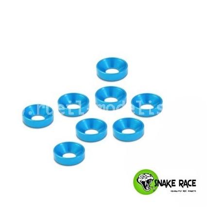 Rondelles cuvette 3mm bleu 10074 Snake Race