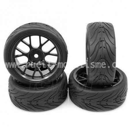 Jantes + pneus sculptés WL-0109 Yeah Racing