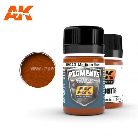 Pigment rouille moyenne AK043 AK INTERACTIVE