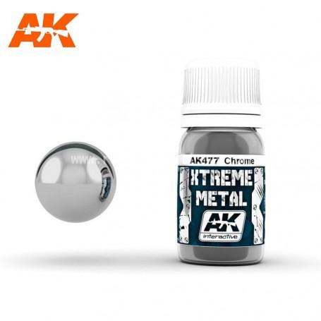 XTREME METAL CHROME 30ML AK477 AK INTERACTIVE