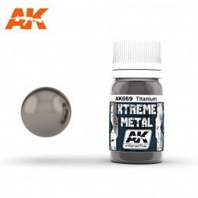 XTREME METAL TITANIUM 30ML AK669 AK INTERACTIVE