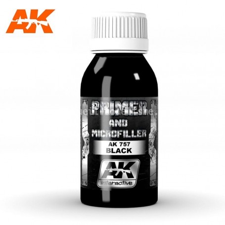 BLACK PRIMER AND MICROFILLER  AK757 AK INTERACTIVE