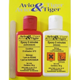 Colle epoxy 5 minutes 100g Avio & Tiger