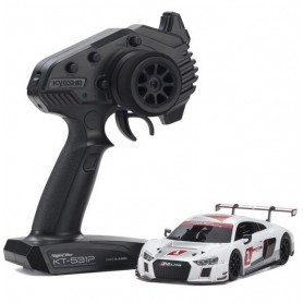 "MINI-Z RWD Audi R8 LMS 2015 ""White"" Readyset RTR 32323AS Kyosho"