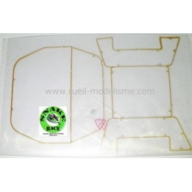 Vitres pour roll cage Snake Race