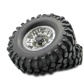 Jantes lourdes beadlock 1.9 + pneus crawler 22304S Topcad