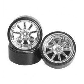 Pneus drift + jantes chrome +5  WH-24/SI 3Racing