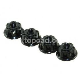 Ecrous de roues cannelés (noir) 56407BK Topcad