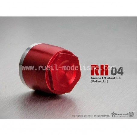 Bouchons + écrous fixation de roues rouge GM70141 Gmade
