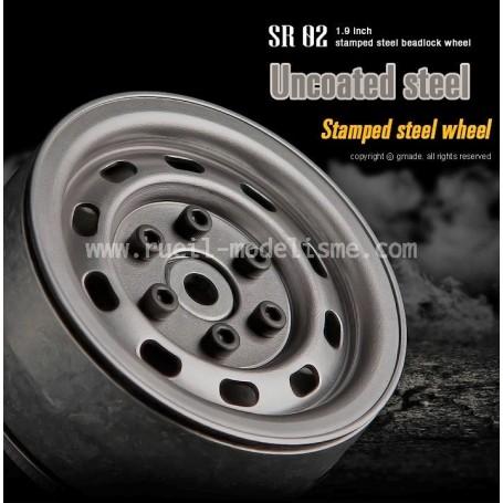 Jantes lourdes beadlock 1.9 SR02 acier GM70177 GMade