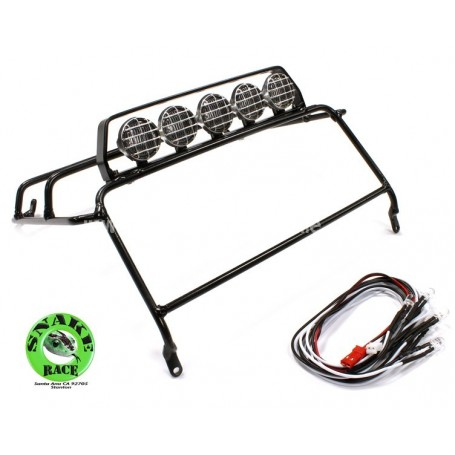 Roll cage + rampes phares pour D90 25422 Snake Race