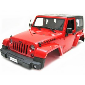 Carrosserie Jeep Wrangler Rubicon rouge 1/10e