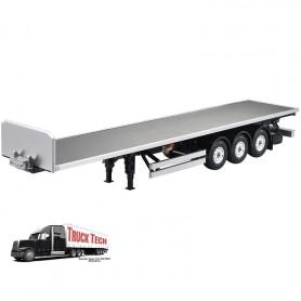 Remorque plateau 1/14e 140403 Truck tech
