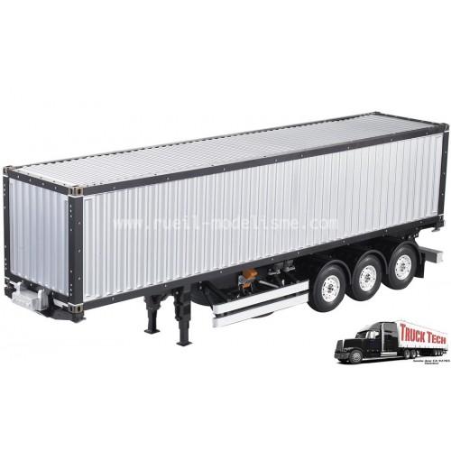 Container 40 pieds remorque 3 essieux 140405 truck tech for Container en francais