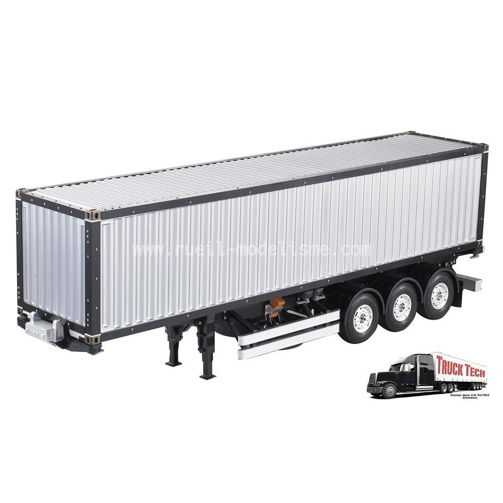 container 40 pieds remorque 3 essieux 140405 truck tech rueil modelisme. Black Bedroom Furniture Sets. Home Design Ideas