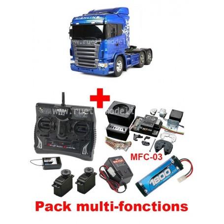 Scania R620 6x4 blue edition 56327 Tamiya PACK MULTI