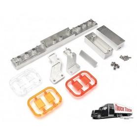 Pare-chocs AR remorque phares carrés TT0034B Truck Tech