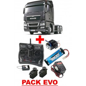 Man TGX 6x4  Gun Metal Edition 56346 Tamiya PACK EVO