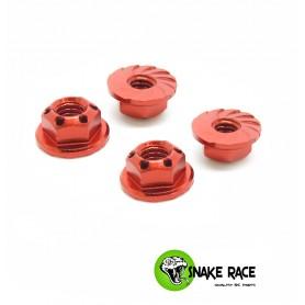 Ecrous de roues rouge 0419 Snake Race