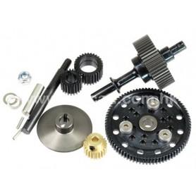 Pignonnerie centrale acier SCX10 23035 Topcad
