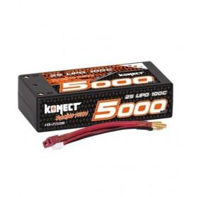Lipo 7,4V 5000 mah 100C 2S SHORTY  Konect