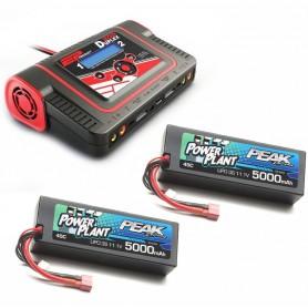 Chargeur  DUPLEX + 2 LiPo 2S 4000 mah 45C