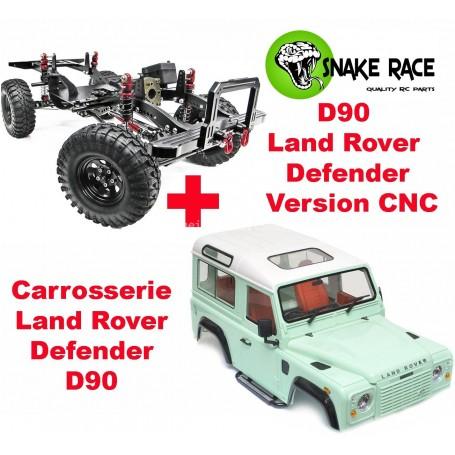 D90 Land Rover Defender tout alu. VERSION CNC Snake Race