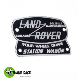 Plaque Land Rover Station Wagon 1071 Snake Race
