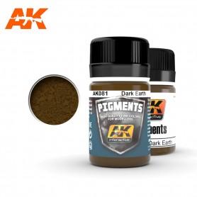 Pigment terre foncée AK081 AK INTERACTIVE