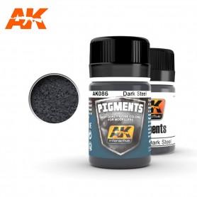 Pigment acier foncé AK086 AK INTERACTIVE