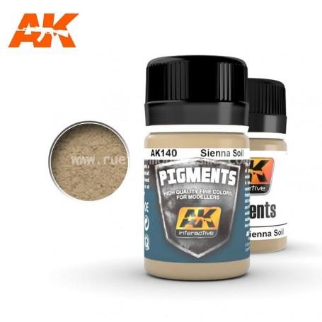 Pigment sol Sienne AK140 AK INTERACTIVE