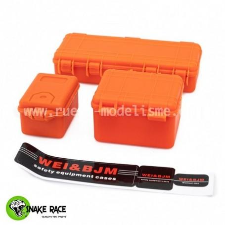 Set de 3 valises de protection orange 4001 Snake Race