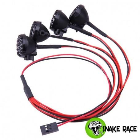 Projecteurs ronds 22mm + leds 0029 Snake Race