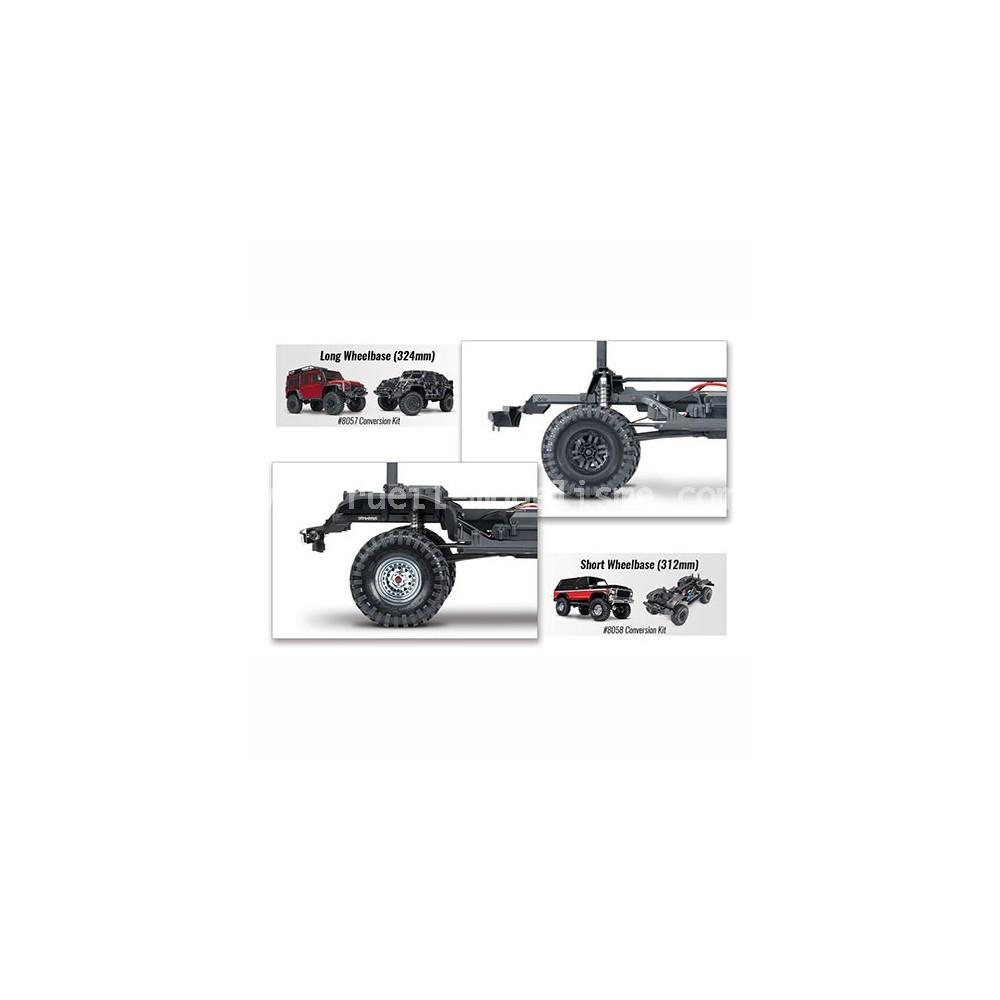 Traxxas 8058 Trx-4 Châssis Kit de Conversion Long à Court Empattement