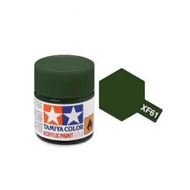 XF61 vert foncé mat pot Tamiya
