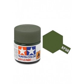 XF58 vert olive mat pot Tamiya