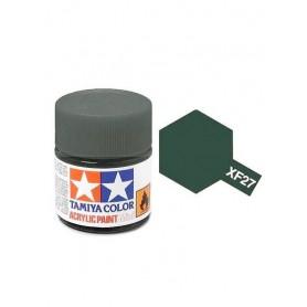 XF27 vert noir mat pot Tamiya