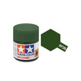 XF26 vert foncé mat pot Tamiya