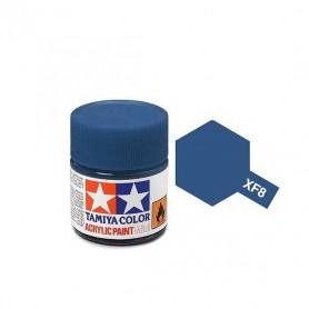 XF8 bleu foncé mat pot Tamiya