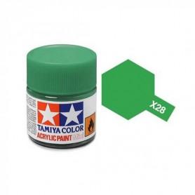 X28 vert pré brillant pot Tamiya