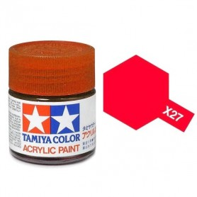 X27 rouge transparent brillant pot Tamiya