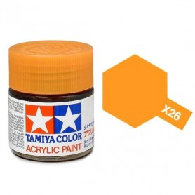 X26 orange transparent brillant pot Tamiya