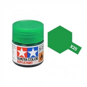X25 vert transparent brillant pot Tamiya